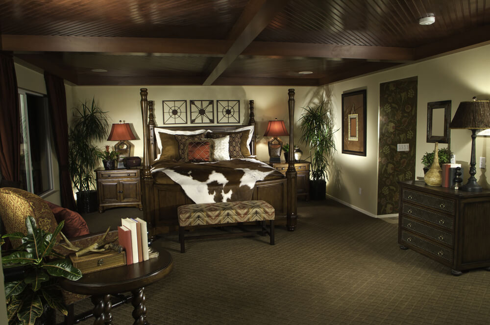 Does modern master bedroom size include closet space