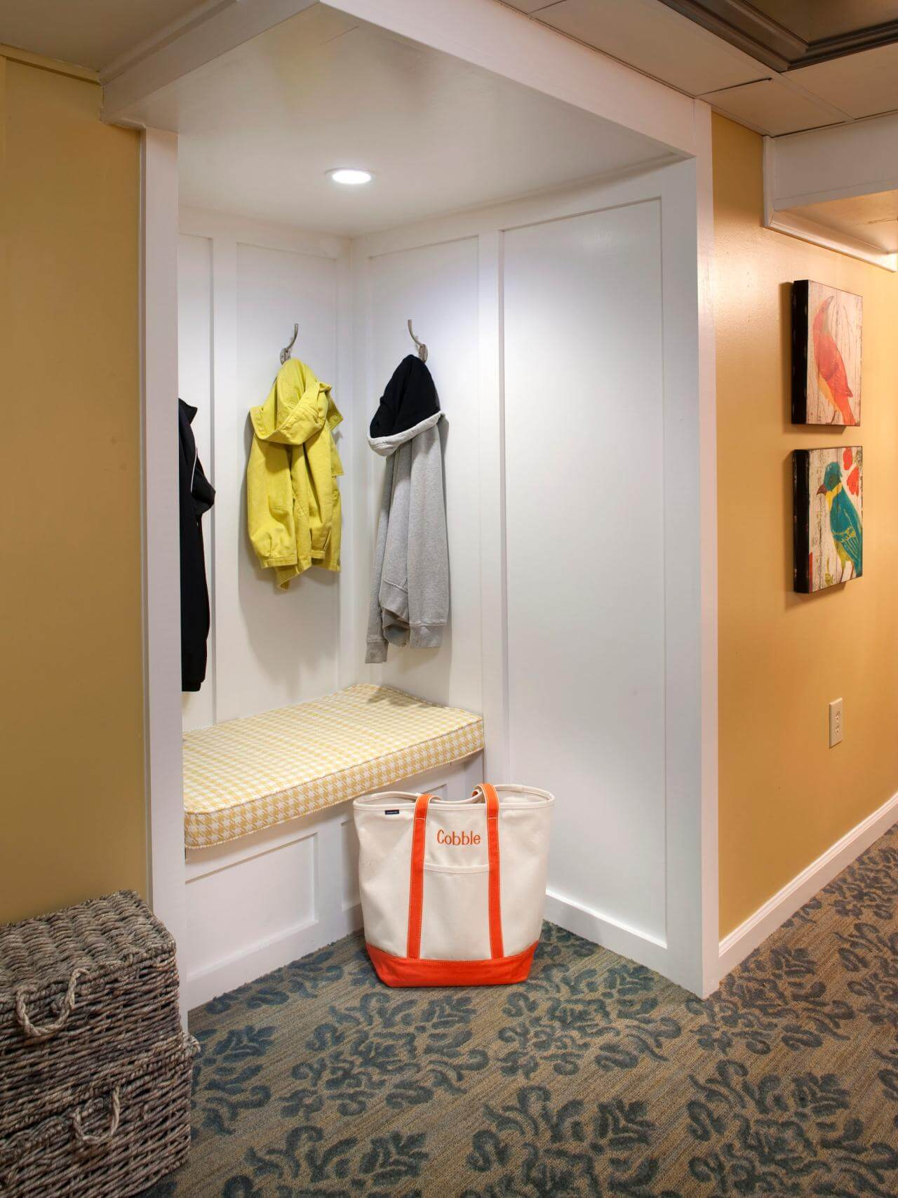 Inexpensive mudroom flooring