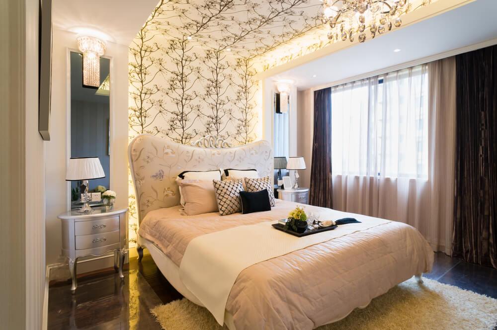 Luxury whitewash master bedroom furniture sets