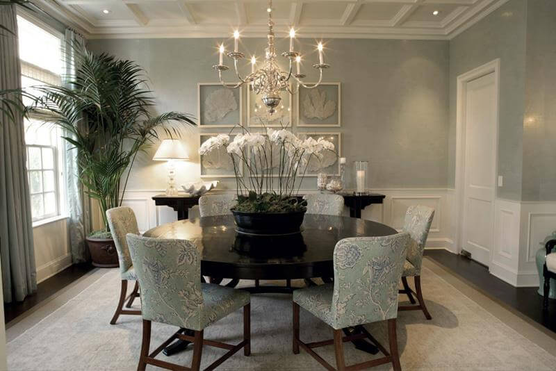 Dining Room Design with Wingback Chairs