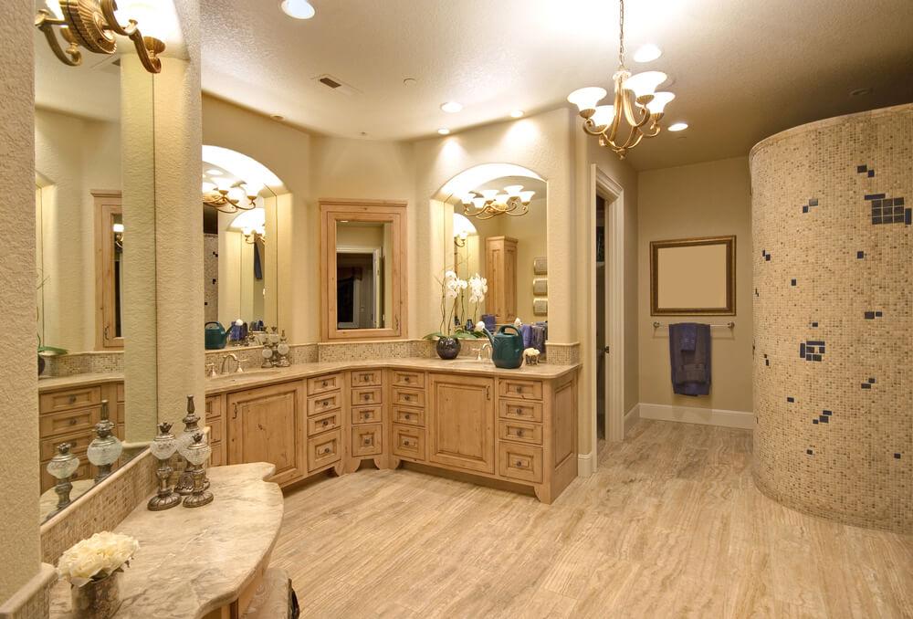 Bathrooms LShaped Vanities