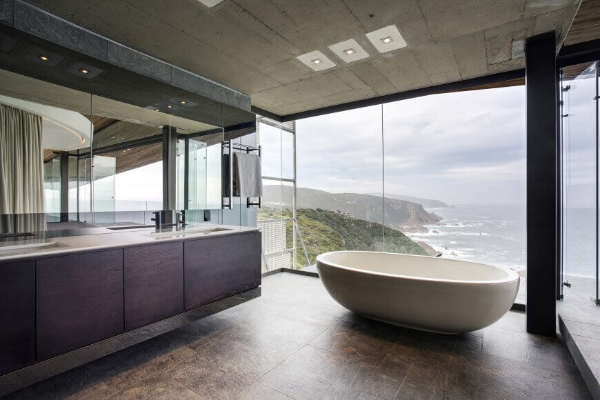 Bathrooms with Large Windows