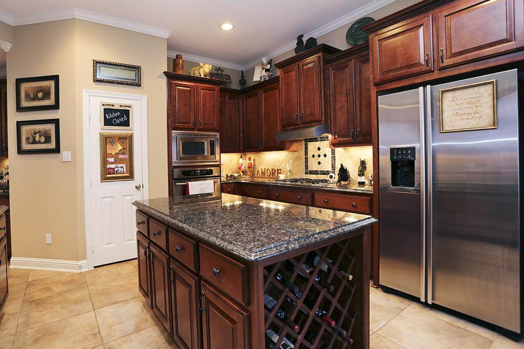 Kitchen Islands with Wine Rack