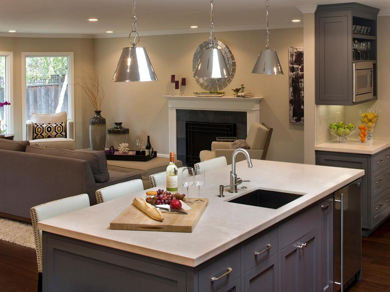 Kitchens Island Sinks