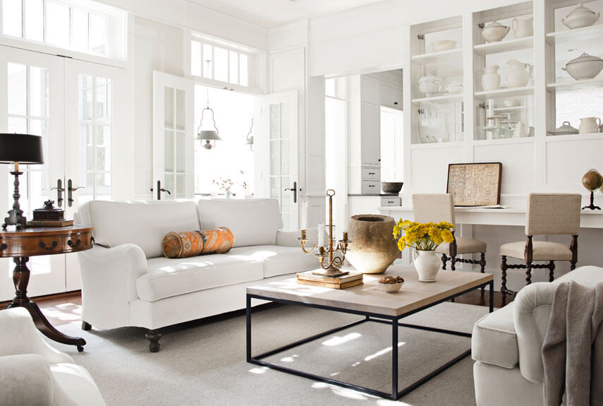Living Room White Furniture