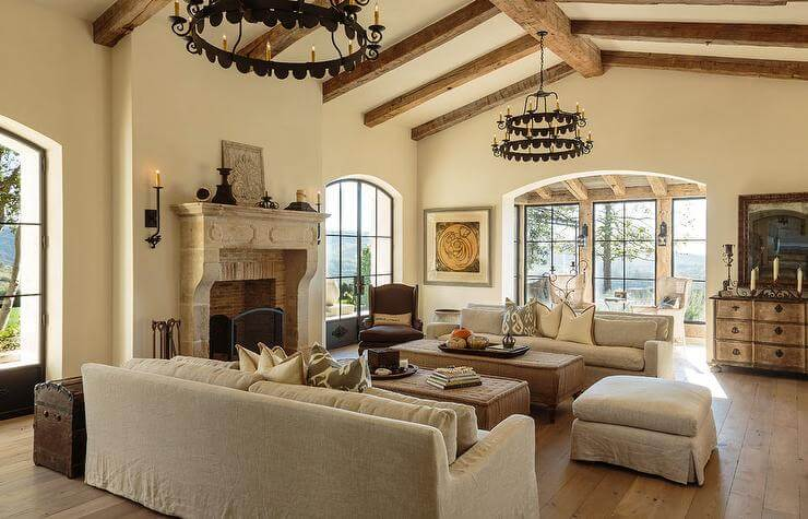Living Rooms with Cathedral Ceilings
