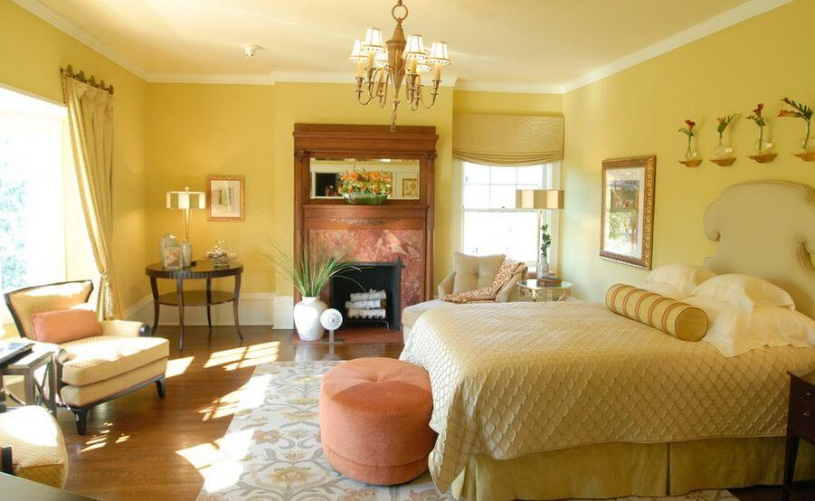 Master Bedrooms Yellow Walls