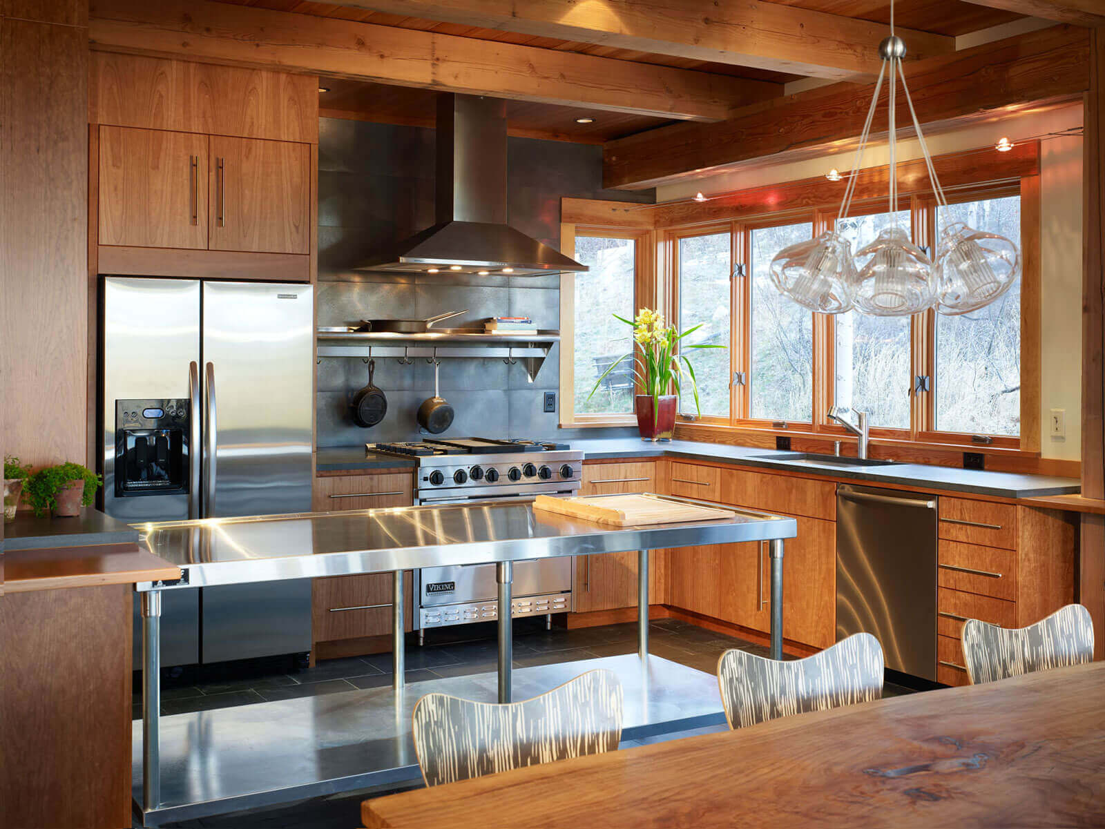 Kitchen Island Stainless Steel Top