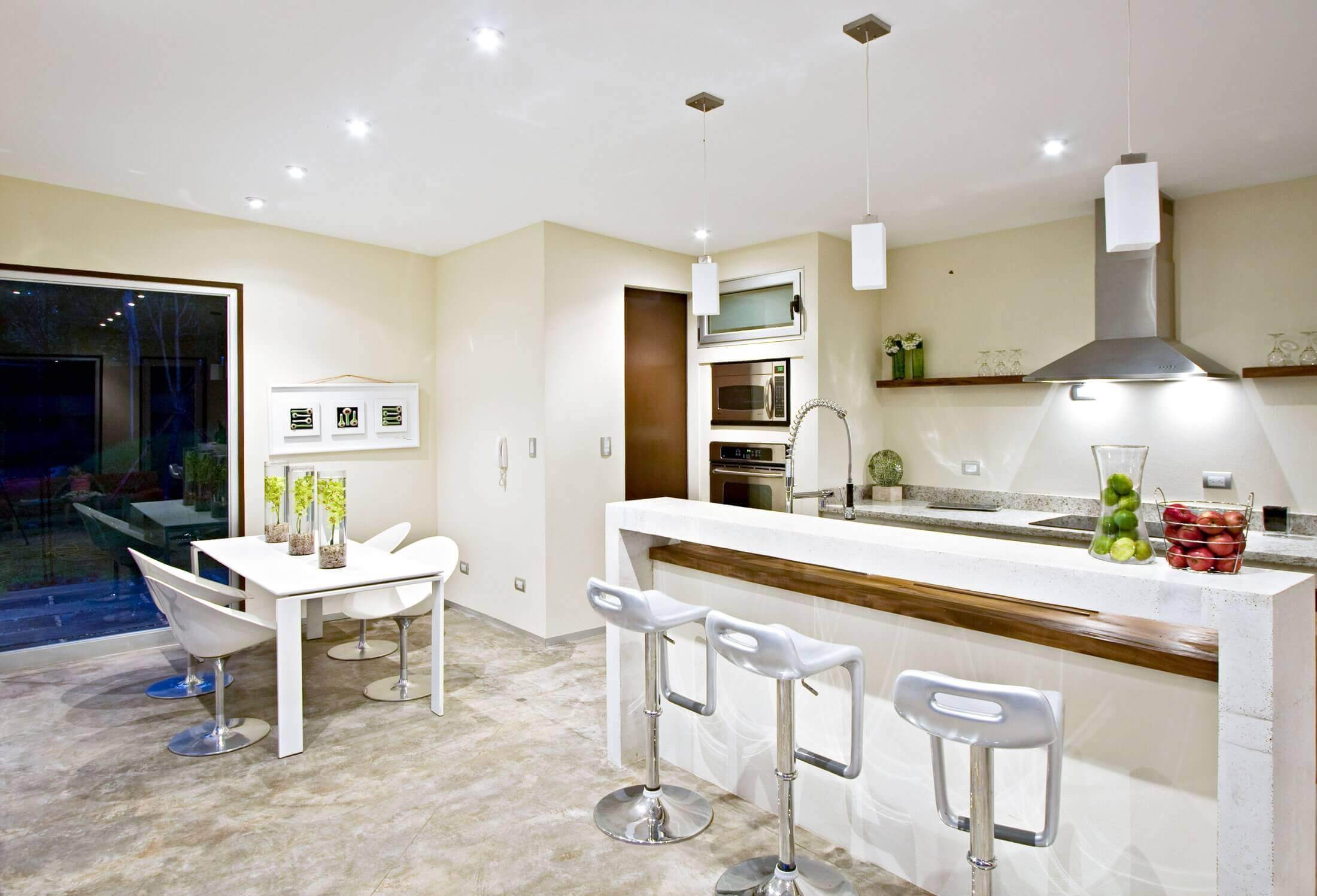 Kitchen Island with Breakfast Bar and Stools