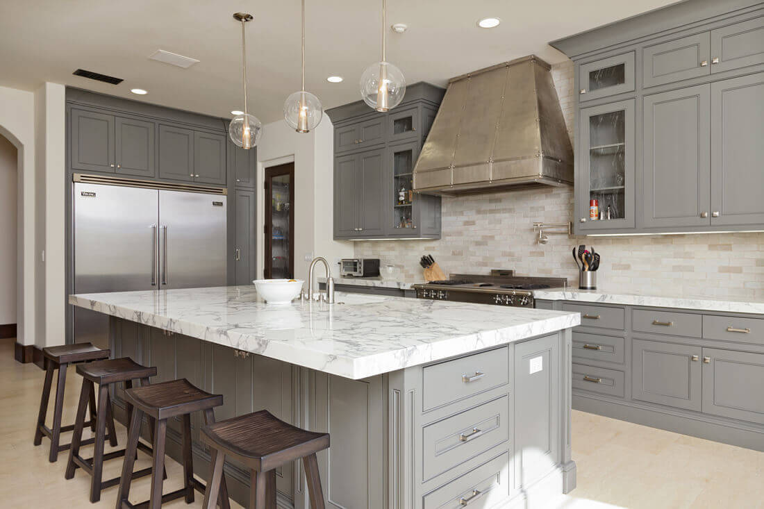 Kitchen Island with Cabinets on Both Sides