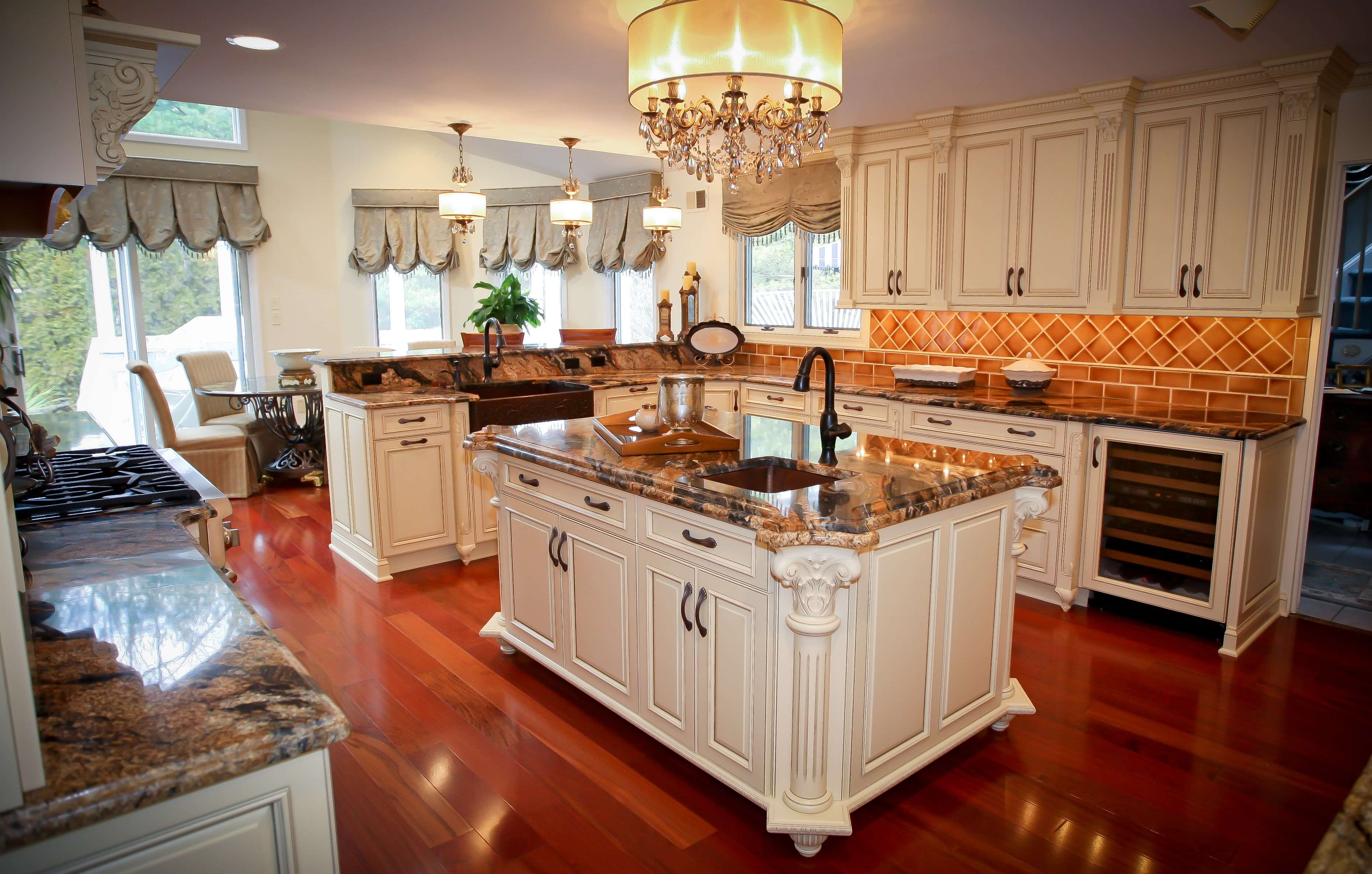 Kitchen Island with Corbels