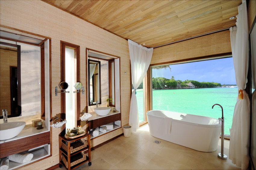 beautiful luxury tropical resort bathroom