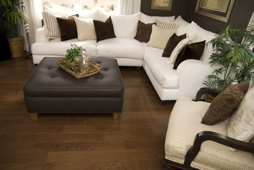 Close Up Of Living Room Furniture And Decor