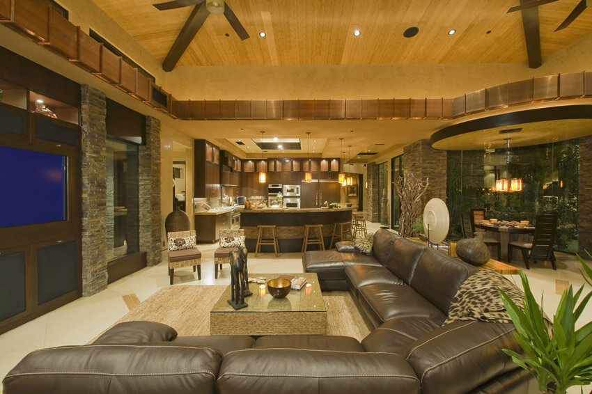 Comfortable Living Room In Luxury Home