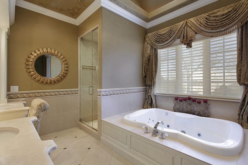 Elegant master bath in gold