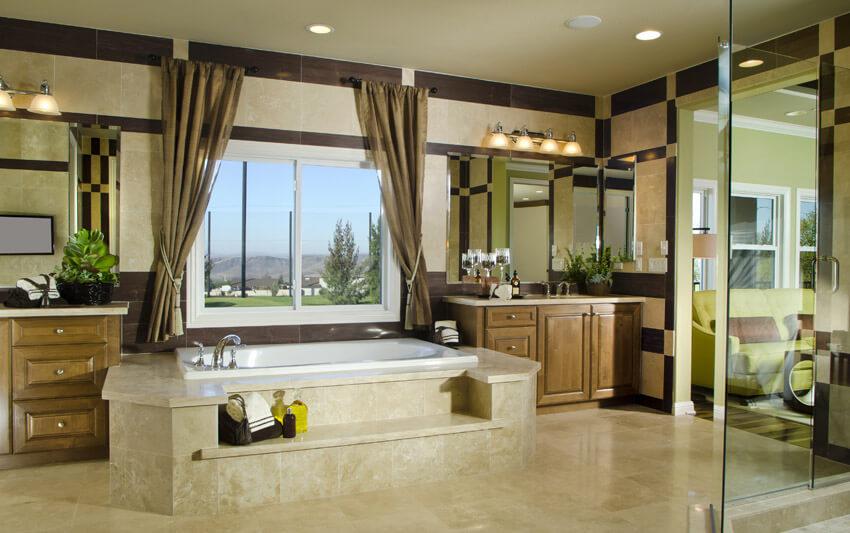 expansive bathroom design