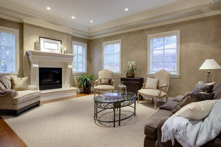 Gorgeous Living Room With Ceiling Recessed Lighting