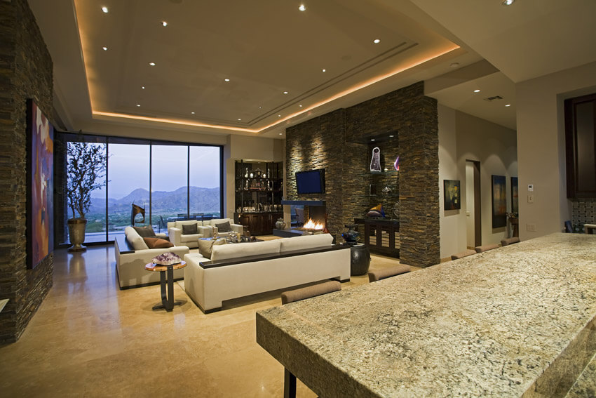 High End Living Room With Luxury Decor
