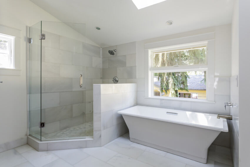 inviting bathroom with clean white style
