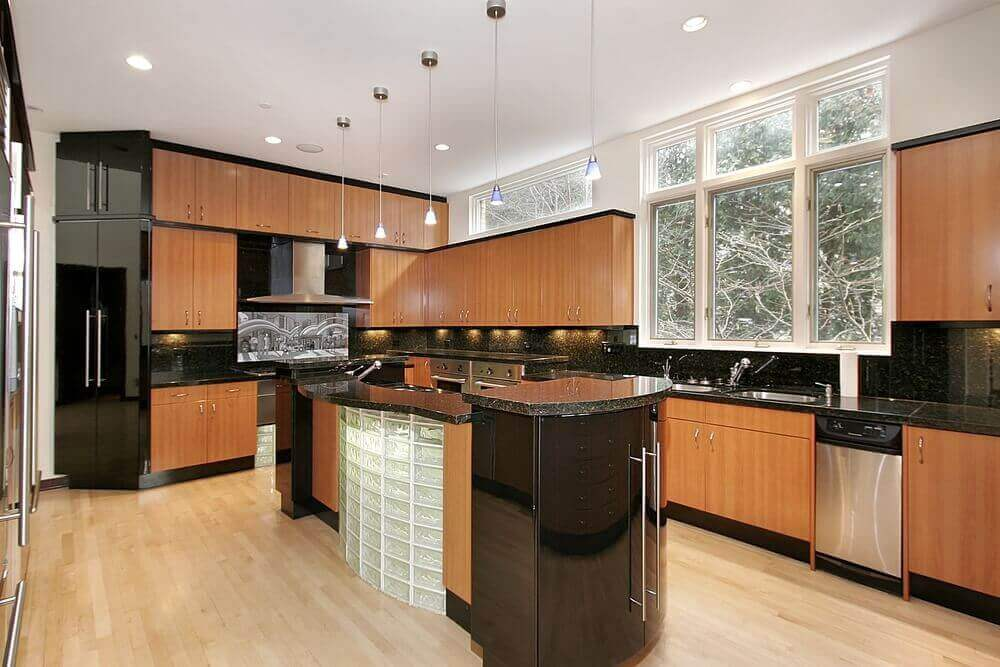 Kitchens Black Appliances