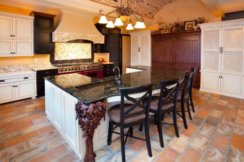 Kitchens White Cabinets Dark Granite