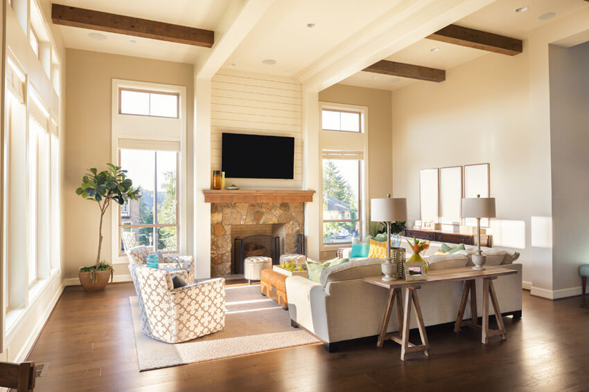 Living Room Design With Tall Ceilings