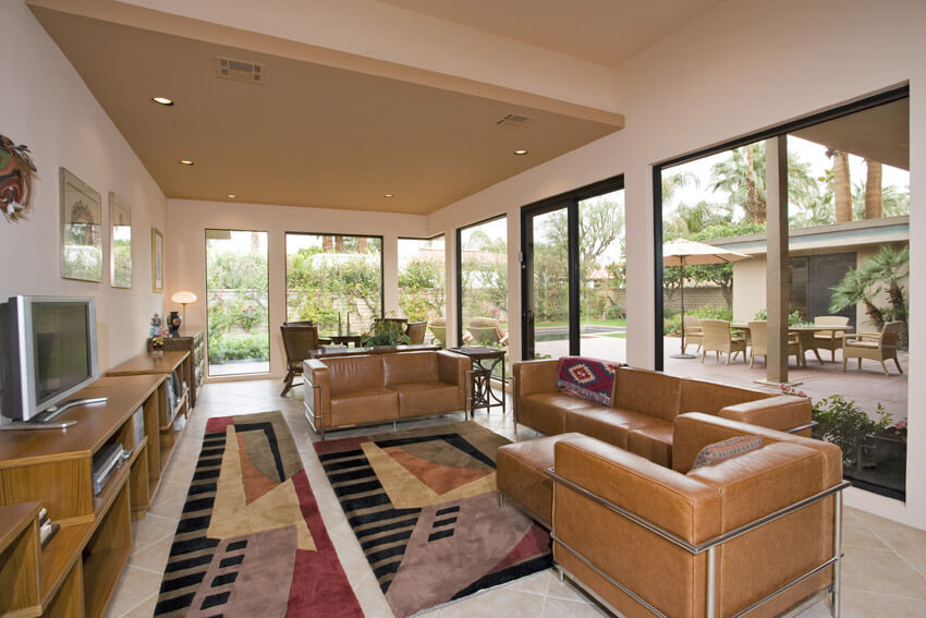 Living Room Design With Upscale Decor And Furniture