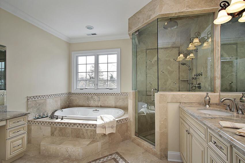Luxury bath glass shower contemporary design