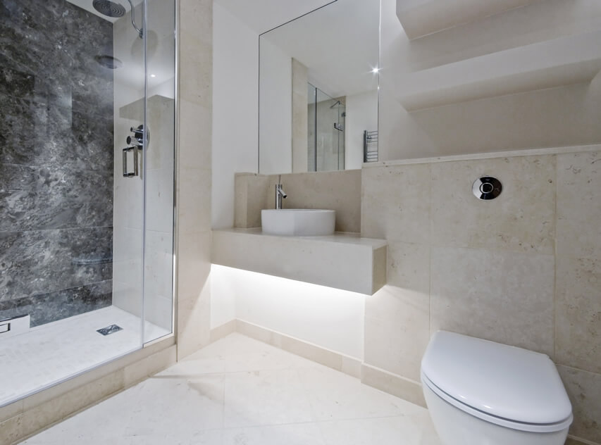 Luxury Marble Bathroom Black White