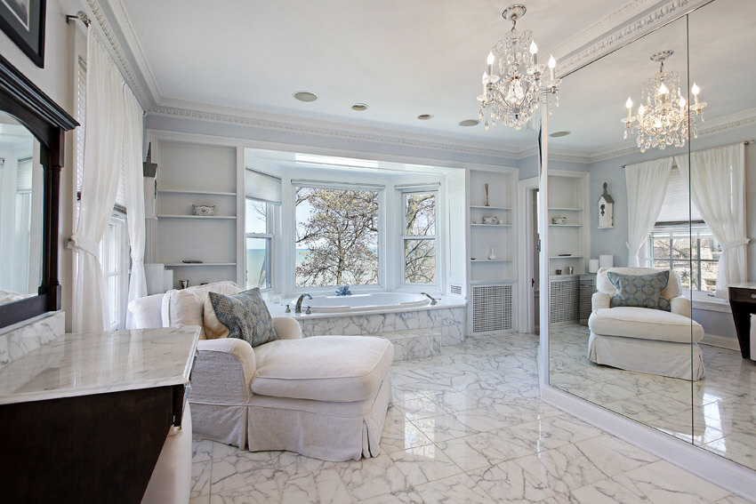 luxury white bathroom suite