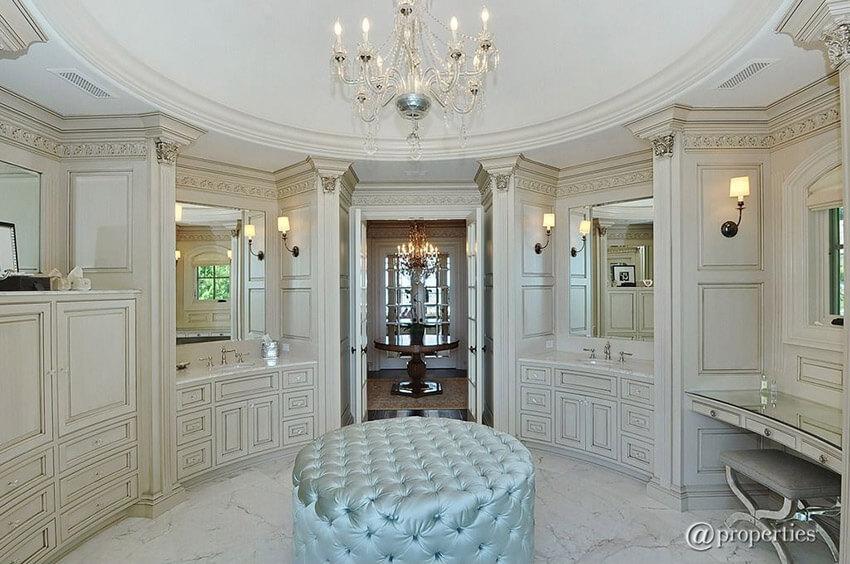 master bath powder room in luxury home