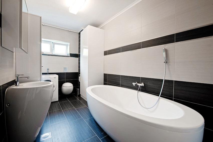 modern black and white bathroom design unique tub