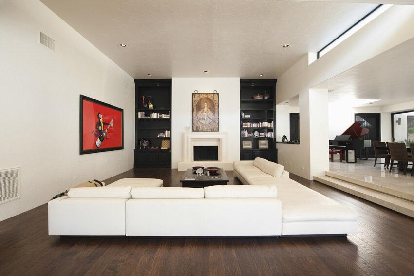 Modern White Themed Living Room