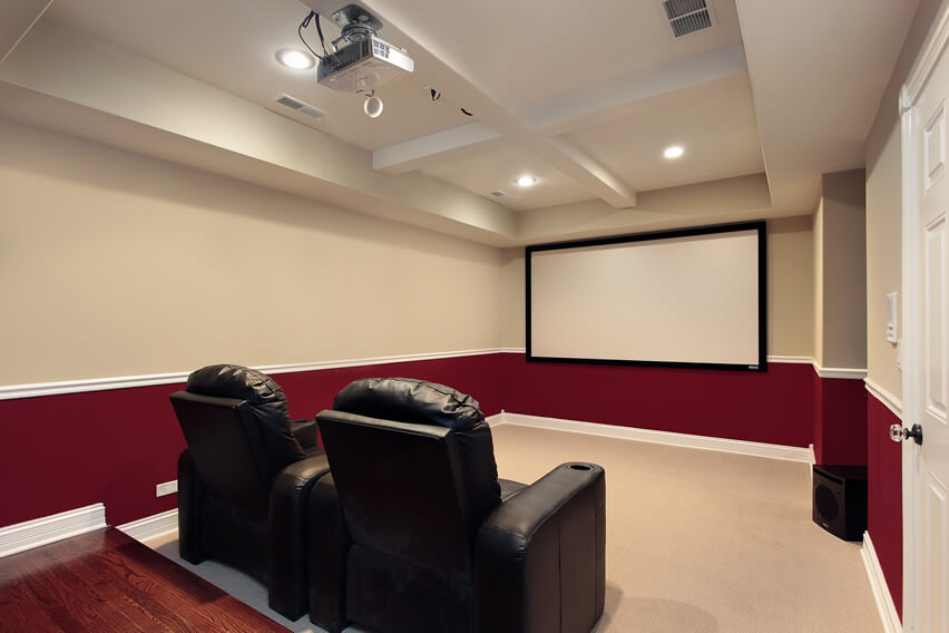 Red And White Movie Room