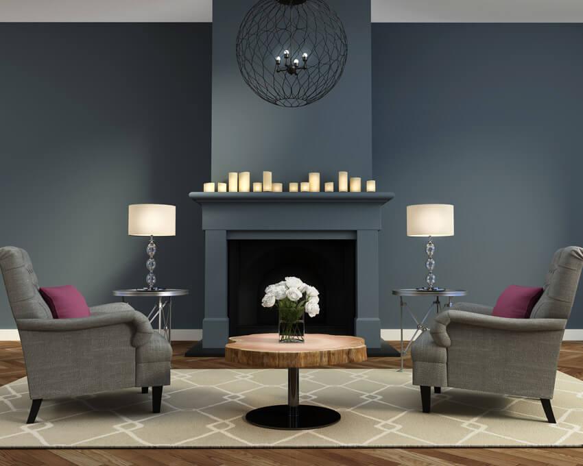 Symmetrical Living Room Design