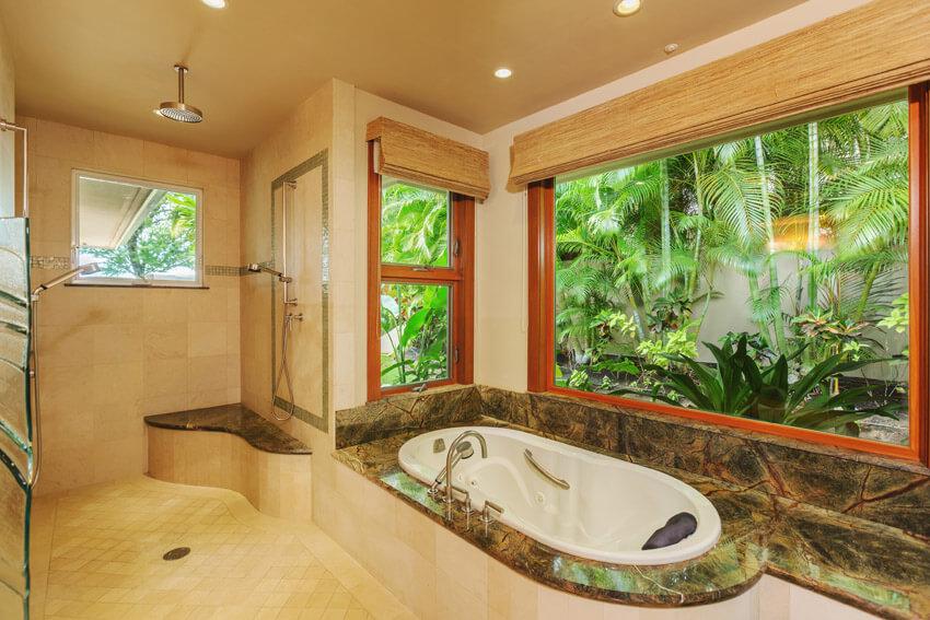 tropical oasis bathroom suite