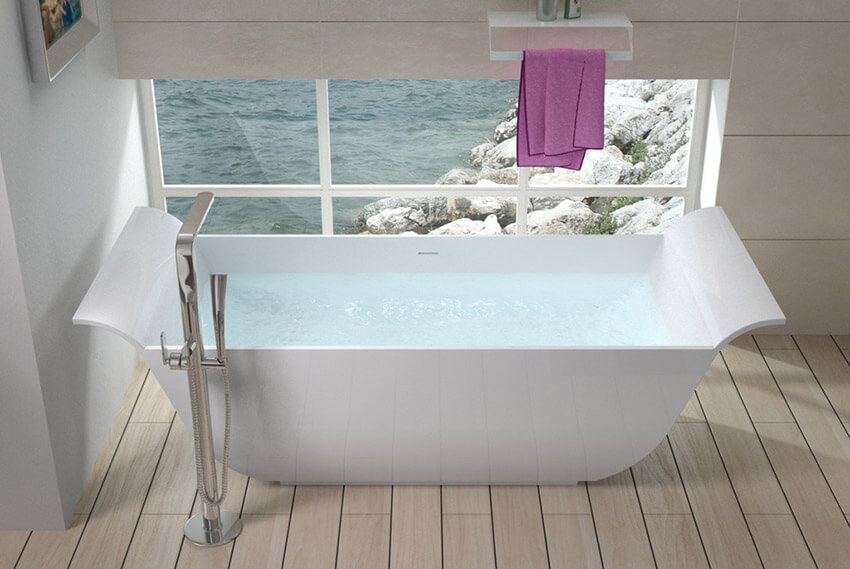 waterfront bathtub with great view