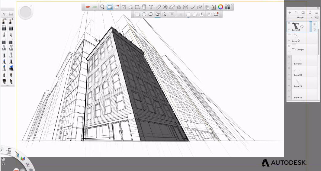 Application for drawing architecture projects SketchBook