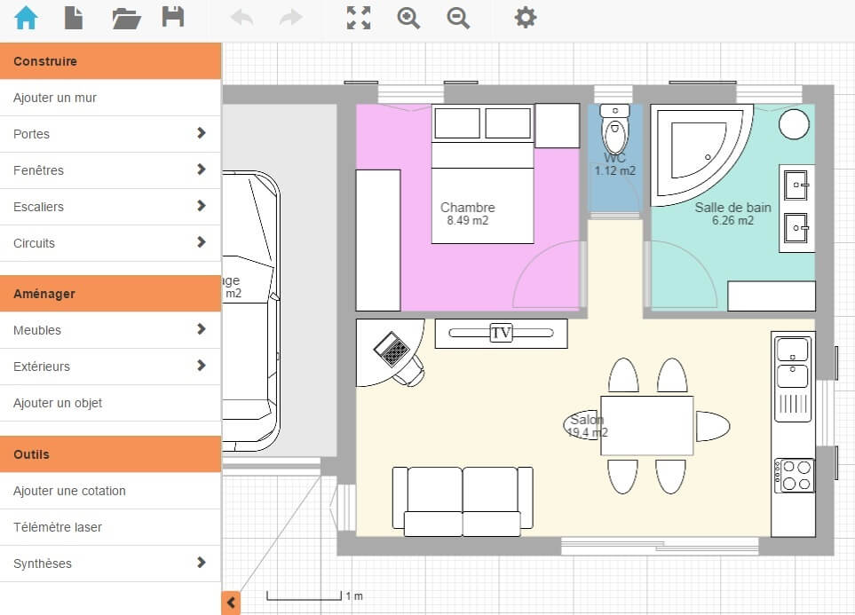 Archifacile program for online house planning