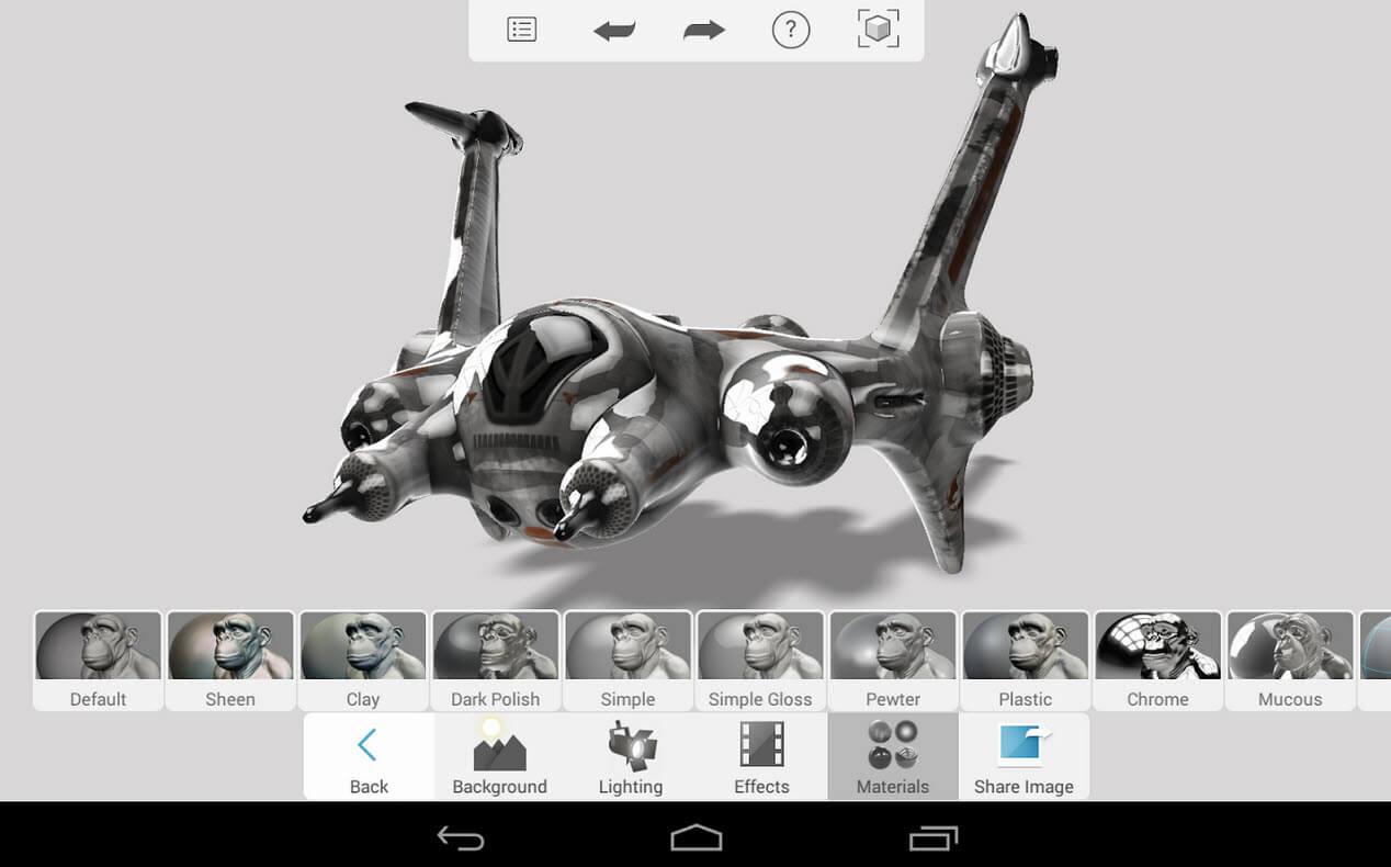 Autodesk 123D - App for modeling organic sculptures