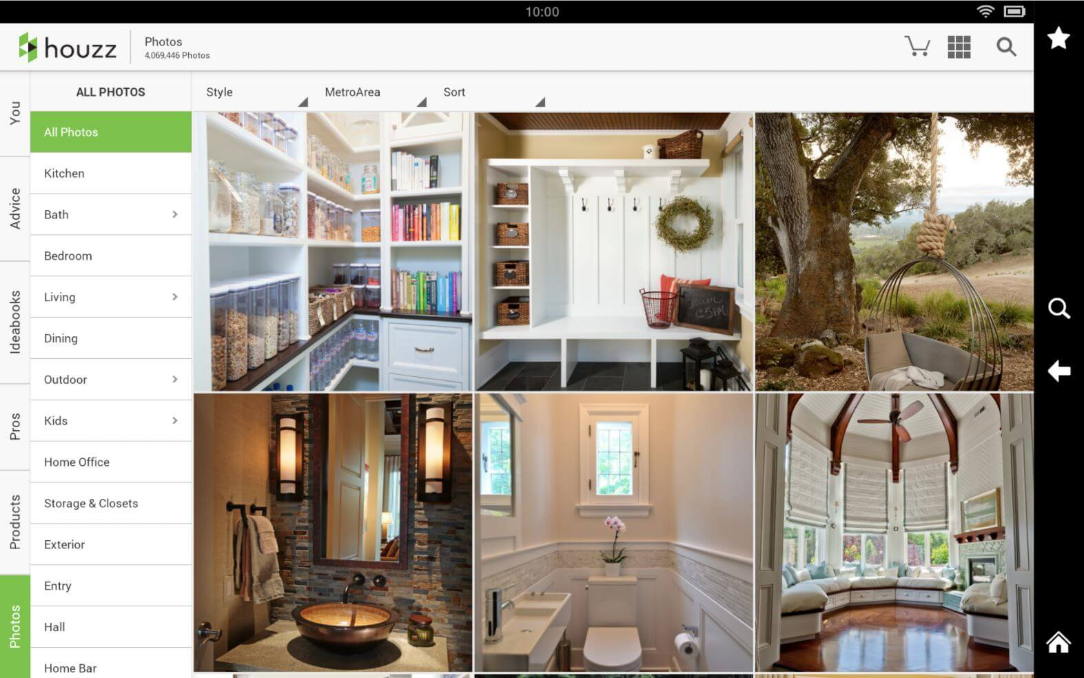 Houzz App for Android and iOS