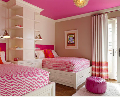 Interior decoration for two girls bedroom