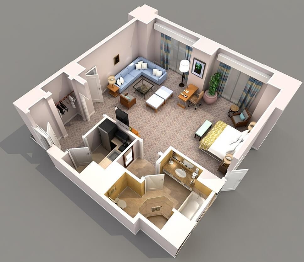 Luxury square apartment