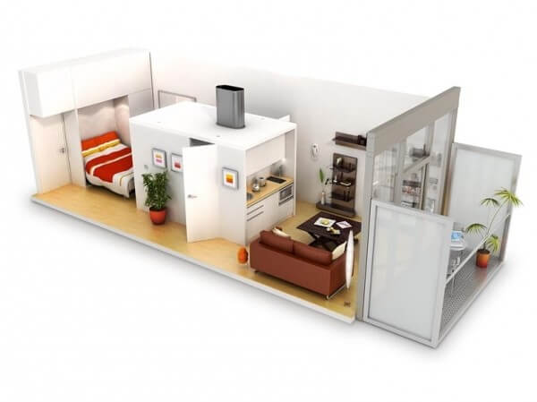 Small Apartments With Bedroom Plans Designs