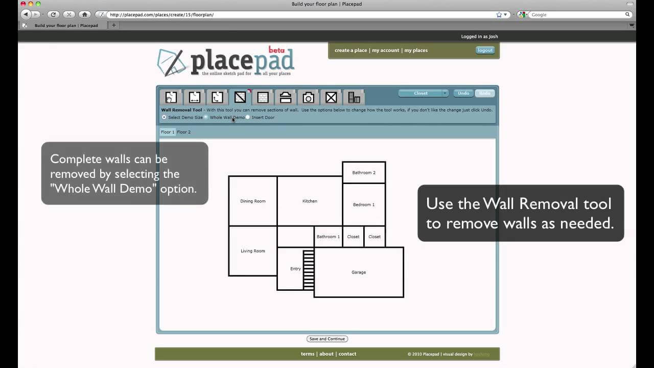 PlacePad software design