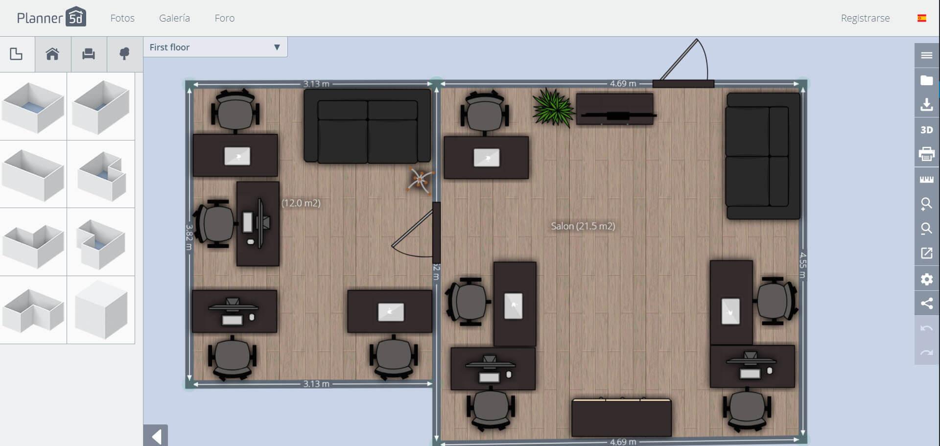 Planner5D app - design of house plans online