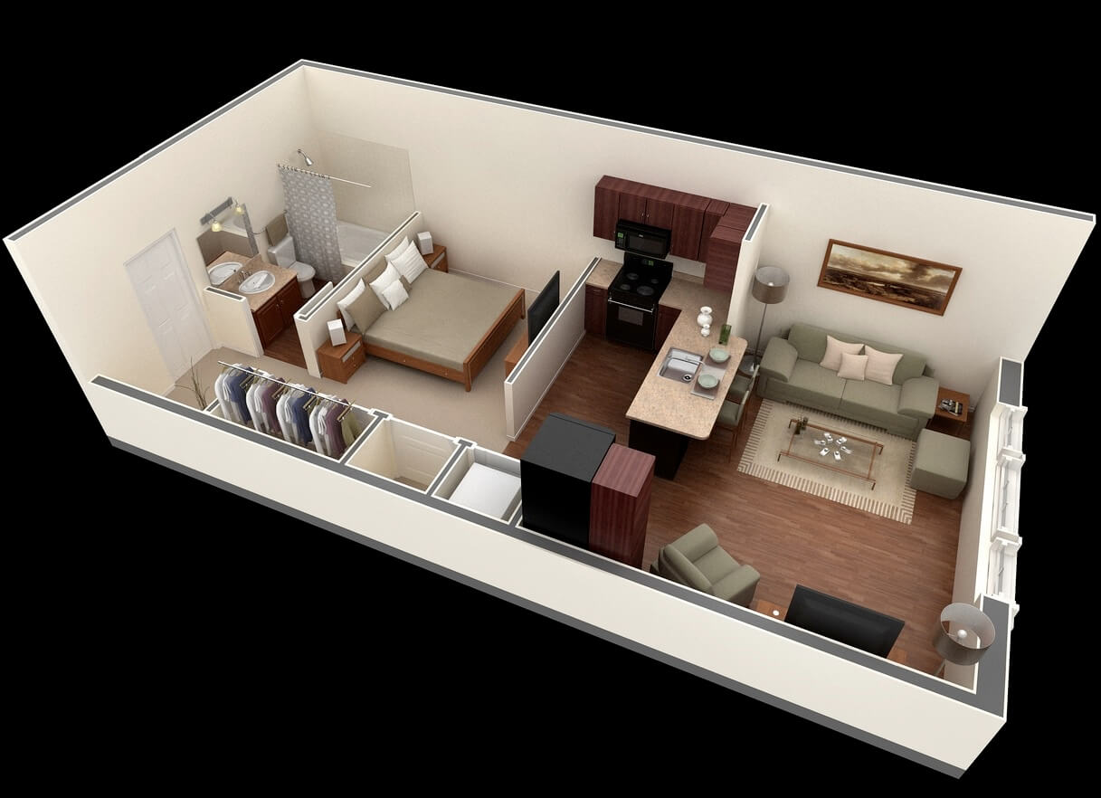 Very small apartment plan