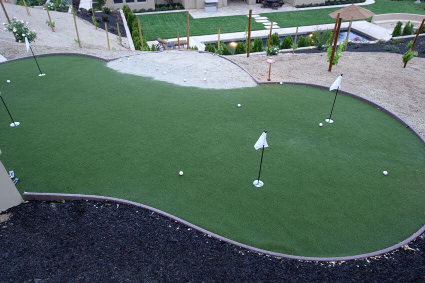 backyard golf putting green