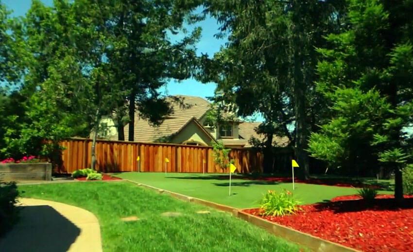 backyard putting green artificial turf