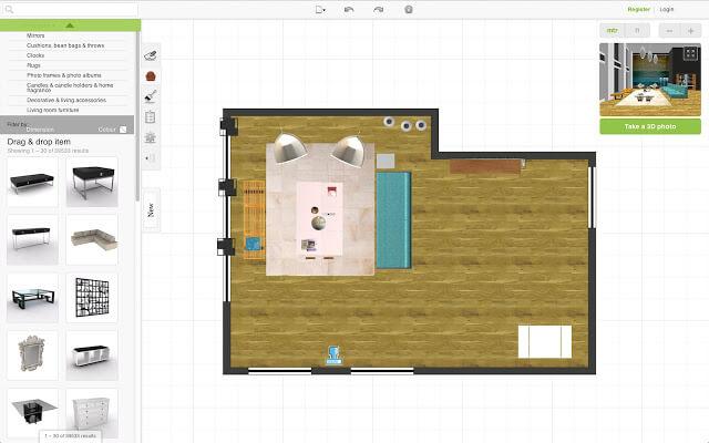 roomstyler online planner tool